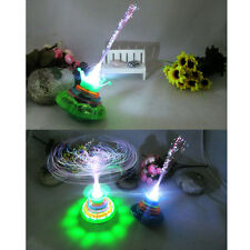 Flash Laser Color LED Light Music Gyro Peg-Top Spinner Spinning Toy Fr Kid Child
