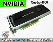 Nvidia Quadro 4000 PCIe Graphics Card w/ Drivers & Adapter - Excellent Condition