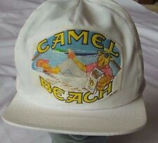 Vintage Joe Camels Hat On the Beach 1991 Hat Cap White