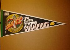 1997 Seattle Sonics Pacific Division Champions NBA Basketball Pennant