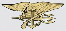US Navy Seals Gold SEAL Trident Sticker *Made in USA* Window Decal Military Gift
