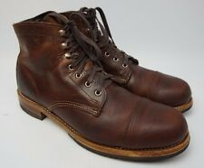 Wolverine Adrian Cap Toe Brown Leather Men's Boot Size 10.5 D