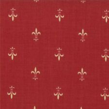 ROUENNERIES DEUX~by 1/2 YD~MODA~13605-17~FRENCH GENERAL FAV~FLEUR DE LIS/ ROUGE