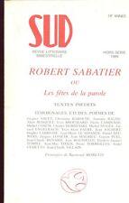 REVUE SUD spécial Rober SABATIER 1989-ROUSSELOT BOSQUET CAMINADE PUEL TEMPLE