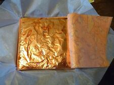 Variegated Pure Copper Leaf Sheets - 50 Sheets - Red & Blue Variations -14 x14cm
