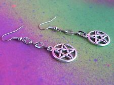 Supernatural Theme Pentagram Earrings Anti Possession Wiccan Goth Pagan