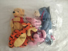 Pooh Mini Bean Bag Set The Disney Store Pooh Tigger Piglet Eeyore