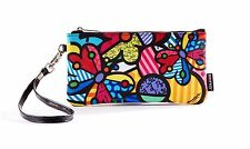 ROMERO BRITTO WRISTLET CLUTCH: BUTTERFLY & FLOWER ** NEW**