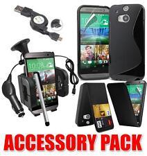 Kit de paquete de accesorios de 7 X HTC M8 y caso soporte para coche ONE cargador