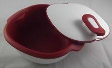 Tupperware WarmieTup Warmie Tup Servierbehälter 2,25 l Weiß / Rot Neu OVP