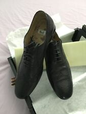 PAUL SMITH Assam Nero Bleached Black Leather Brogue SIZE 6.5uk