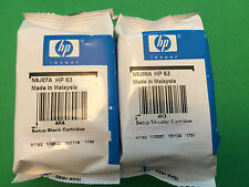 NEW HP 63 Black & Tri-color Original setup Ink Cartridges-HP3632 HP2132 printers