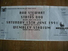 STATUS QUO/ROD STEWART - USED CONCERT TICKET