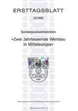 BRD 1980: Weinbau! Ersttagsblatt der Nr. 1063 mit Bonner Sonderstempel! 154