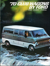 1970 Ford Club Wagon Van 8-page Original Car Sales Brochure Catalog