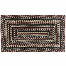 IHF HOME DECOR COUNTRY STYLE 5 X 8 BRAIDED AREA RECTANGLE RUG Balckberry Design