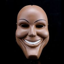 Men Resin Scary Smile Face Halloween Mask The Purge Anarchy Movie Prop Cospay