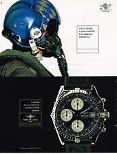 PUBLICITE ADVERTISING 045  1998  BREITLING  montre CHRONOMAT DIVER PRO cent aéro