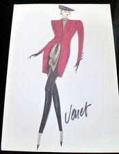 VTG Original 1990s FASHION STAT SHEET HAUTE COUTURE PHILIPPE VENET *FROM PARIS*