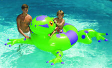 Swimline 90623 Swimming Pool Kids Inflatable Giant Rideable Frog Float Toy 74""