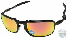 Oakley BADMAN Sunglasses OO6020-03 | Dark Carbon | Ruby Iridium Polarized | NIB