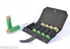 for belt // Black shotgun cartridge hold 6 shells 12 gauge hunting