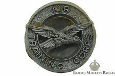 PLASTIC: Air Training Corps ECONOMY Issue Bakelite Lapel Cap Badge ATC Bakerlite