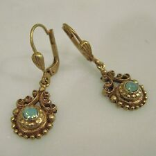 NWT La Vie Parisienne/Catherine Popesco Gold Pacific Opal Morocco Earrings 4822G