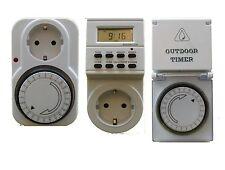 Orologio a interruttore Analogico con Presa di corrente 15min Timer bianco 3500W