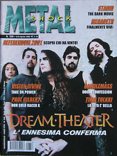 METAL SHOCK 356 2002 Dream Theater Staind Megadeth Tad Morose Thoten Candlemass