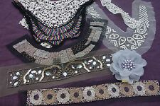 Job Lot Sewing Trims Beaded Collars Embellishments Corsage Lace Art Deco Tribal
