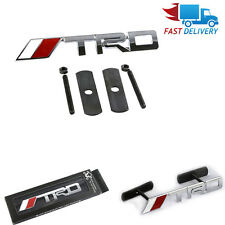 3D Metal White //TRD Front Grille Badge Decal Sticker Emblem Car Logo for Toyota
