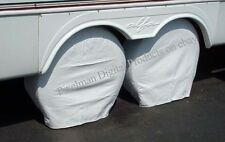 "4 ADCO 30 - 32"" TIRE COVERS Motorhome Truck Auto Camper Trailer RV Polar White"