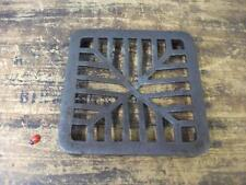 "6""  square Cast Iron Replacement Drain Cover Grate domed heavy duty"