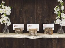 20 Rustic Wedding Place Card Holders Tree Slices Decor  Wood Disc Tree Log Round