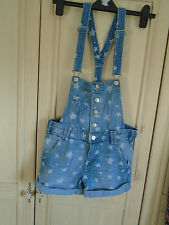 girls pale denim dungarees size eur158 age 12/13 years by H&M