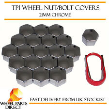 TPI Chrome Wheel Nut Bolt Covers 21mm Bolt for Kia Picanto [Mk2] 11-16