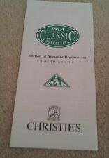 Christie's DVLA Classic 1994 Private Cherished Number Plate Auction Leaflet