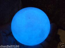 320g Blue Glow White Jade Stone Glow In The Dark Stone Ball China 60MM p4