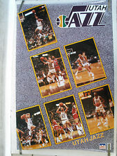 RARE UTAH JAZZ TEAM STARS 1990 VINTAGE NBA STARLINE POSTER