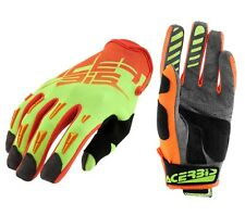 GUANTI MOTO ENDURO CROSS ACERBIS MX2 2017 GIALLO ARANCIO FLUO GLOVES TG XL