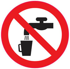 [ 6No | 50x50mm ] NOT DRINKING WATER | health and safety signs