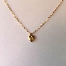 Gold Heart Necklace/Choker Small, Tiny, Petite, ALL 14K Gold-filled