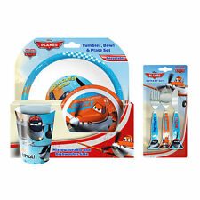 Producto con licencia oficial Disney Planes 3PC cena & Juego De Cubiertos Tenedor Tazón de placa