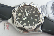 NICE SEIKO DIVER AGS KINETIC WATCH SCUBA 200m 5M23-6B60 DAY/DATE JAPAN GENT SIZE