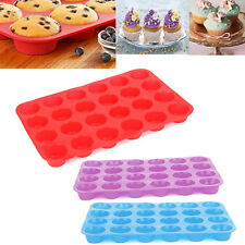 24 Cup Cavity Mini Muffin Silicone  Cookies Cupcake Bakeware Pan Soap Tray Mould