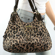 New Coach Maggie Ocelot Animal Leopard Shoulder Hand Bag 17751 New RARE