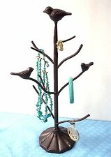 CHRISTMAS GIFT JEWELRY STAND NECKLACE BRACELET DISPLAY HOLDER ORGANIZER BIRDS