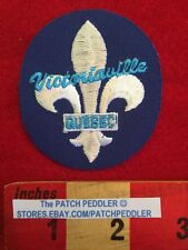 CANADA PATCH ❖ VICTORIAVILLE QUEBEC ❖ Fleur-de-lis Flower Lily ~ Borderless 59HH