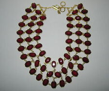 SOLD OUT AMRITA SINGH REVERSIBLE GREEN/RED STATEMENT CABOCHON BIB NECKLACE